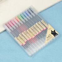 12 Colors / Set 0.5mm Ink Pen Gel Pens Maker Pen School Office Supply MUJI Style