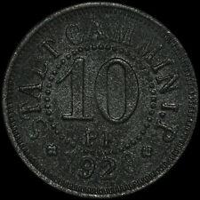 NOTGELD: 10 Pfennig 1920, Zink. F 76.6. STADT CAMMIN / POMMERN ⇒ KAMIEŃ POMORSKI
