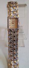 Women's/Boy's Geneva Gold/Silver Finish Nugget style  bracelet fashion watch