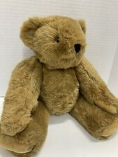 "Vermont Teddy Bear Plush Jointed Brown Big Stuffed Animal 20"" Tall"
