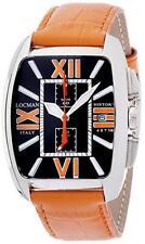 Orologio Uomo LOCMAN HISTORY 487N00BKFOR0PSO Chrono Vera Pelle Arancio Titanio