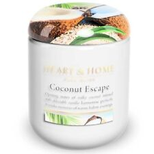 Extra Large Candle Jar - 80 hours burn time - Coconut Escape - Tropical Paradise