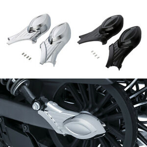 Chrome/Black Rear Swingarm Axle Bolt Cover Fit For Indian Scout 2015-2016 2015