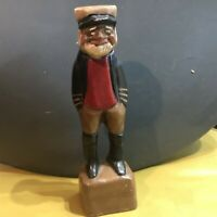 "Vintage Fisherman Captain Figurine chalkware bisque 6 1/2"" tall"