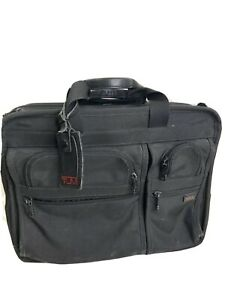 Tumi Alpha Expandable Organizer Laptop Rolling Ballistic Nylon Briefcase 2206D3
