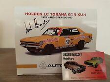 1:18 Biante Holden HDT LC GTR XU-1 39C Colin Bond 1970 Bathurst Signed