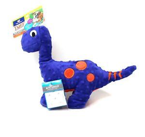 Dog Toy Top Paw Tuff Ballistic Bite Shield Squeaker Dinosaur