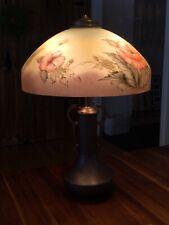 Antique Lamp Reverse Painted Plb Pittsburgh Vintage Art Nouveau Table Light