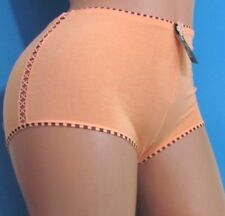 ROSE Pink Blue Black Cotton Embroidered boy shorts sissy bikini panties Sz M