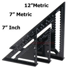 "7/12"" Aluminum Alloy Speed Square - Protractor - Measuring Ruler Miter - Framing"