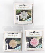 Mill Hill Bead Snow Crystals Charmed Cross Stitch Kit (3) Sets Pink Aqua Gold ❄️