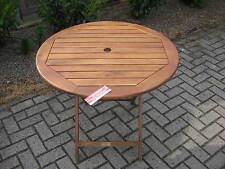 Tisch 90 cm  Gartentisch Akazie geölt  Neu OVP Klapptisch rund