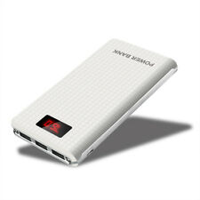 AU 50000mah Portable Mobile Power Bank LCD 2 LED 3 USB Battery Charger for Phone White