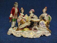 Porcelain Group Tea Time Miniature Volkstedt 1 male 3 female Rudolstadt Dresden