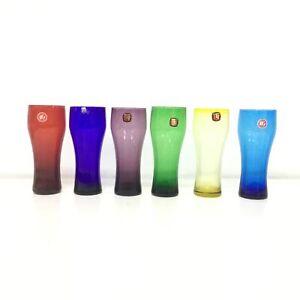 6 TG Japan Colourful Pilsner Glasses #323