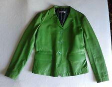 Jil Sander women green leather jacket, French size 44