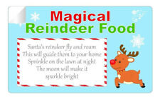 21 x Magical Reindeer Food Poem Stickers High Quality Glossy Labels