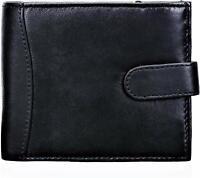 Leather Men RFID SAFE Contactless Card Blocking wallet Multiple Credit Card slot