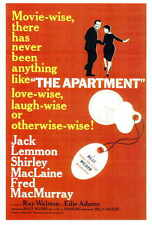 The Apartment Movie Poster 27x40 Jack Lemmon Shirley MacLaine Fred MacMurray