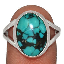 Natural Tibetan Turquoise 925 Sterling Silver Ring Jewelry s.8.5 AR139630