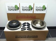 4Runner 2003-2009 Genuine Oem Toyota Rear Brake Rotors OEM Pad Kit & OEM Shims