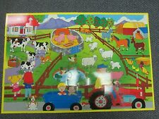 """First Learning Farm Floor Puzzle 26 Pieces 36"""" x 24"""""""