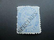 Queensland Stamp: Specimen Overprint Mint  -  RARE  (k166)