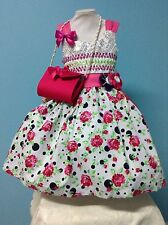 Girl Dress Size 3T Pink Cotton Taffeta Tulle Sequins Birthday Pageant Formal New