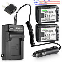 Kastar Battery AC Charger for Canon BP-808 CG-800 Canon VIXIA HF M46 Camcorder