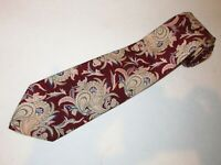 Polo Ralph Lauren Tie Maroon Flax Paisley Vines Printed Silk Necktie Luxury Men