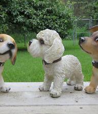 BICHON FRISE BOBBLE HEAD DOG FIGURINE PUPPY RESIN PET CANINE  NEW