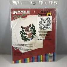 New listing Dizzle Dizzle Pre-Shaded Christmas Deer 50086 14x17 Iron-On Transfer
