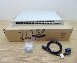 Neu Cisco Meraki MS225-48FP-HW Cloud Stackable access switch 10G SFP+ New Open
