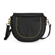 Rebecca Minkoff Whipstitch Astor Leather Saddle Bag - Black