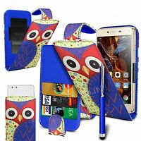 For Lenovo A516 - Printed Clip On PU Leather Flip Case Cover & Pen