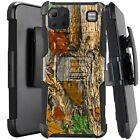 Holster Case For LG K92 5G (2020) Hybrid Kickstand Phone Cover - MAPLE CAMO LEAF
