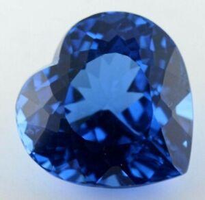 MASSIVE 20mm (30.50cts) HEART-FACET NATURAL AFRICAN LONDON-BLUE TOPAZ GEMSTONE