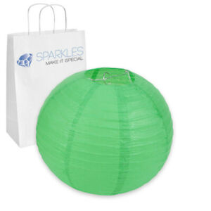 """10 pcs 14"""" inch Chinese Paper Lantern - Green - Wedding Party Event up"""