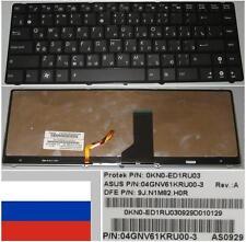 Clavier Qwerty Russe ASUS UL30 UL30VT Series 9J.N1M82.H0R 0KN0-E01RU03 Backlit