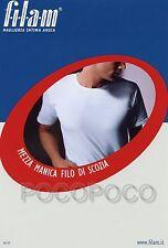 MAGLIA GIROCOLLO UOMO MEZZA MANICA FILO SCOZIA FILAM ART. 60130