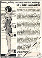 Diät Fett weg Sascha Reduzierer Reklame von 1926 Ballowitz Berlin Dick Dünn Ad