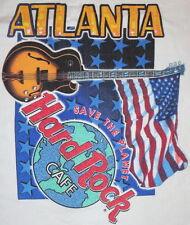 """Hard Rock Cafe ATLANTA 1990s CITY ICONS White HEAVY Tee T-SHIRT XL 24"""" x 17"""""""
