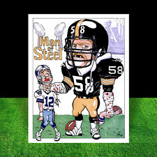 JACK LAMBERT Pittsburgh Steelers Super Bowl POSTER ART the vintage Steel Curtain