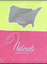 Vintage Seamed Stockings Nylon Nationals Made In USA Taupe Smoke Gray Size 10