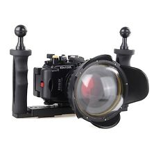 Sony RX100 IV 40m/130ft waterproof Housing case + Dome Port lens +Aluminium Tray
