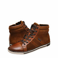 Men Shoes Kenneth Cole Initial Point High Top Sneakers KMS7LW005 Rust *New*