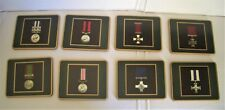 """8 Medal Design Drinks Coasters / Place Mats - Militaria - 4.25"""" x 3.5"""""""