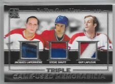15/16 ITG Used Triple Patch Laperriere Shutt Lafleur /9 GTP-10 Canadiens