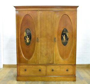 Antique vintage chinoiserie double door wardrobe