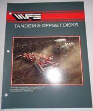 White 256 273 274 281 Tándem & Offset Discos Catálogo Literatura Wfe Disco